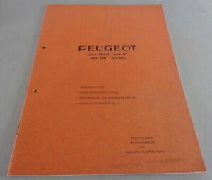 """Werkstatthandbuch Peugeot 504 A91 - 504 A93 USA Modelle """"Norm 72"""" Stand 01/1972"""