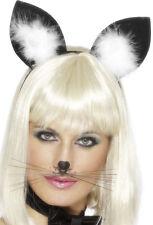 Katzenohren Haarreif schwarz NEU - Karneval Fasching Hut Mütze Kopfbedeckung