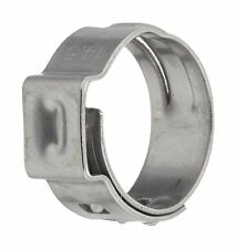 One Ear 7 mm Band Width Pack of 200 Clamp ID Range 20.3 mm Closed - 23.5 mm Open Oetiker 16700028 StepLess Ear Clamp