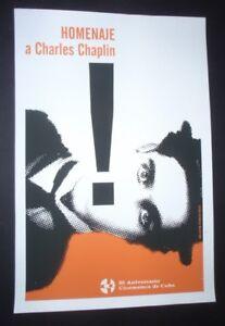 HOMAGE-TO-CHARLIE-CHAPLIN-Original-CUBAN-Screenprint-Poster-by-Ponce-CUBA-ART
