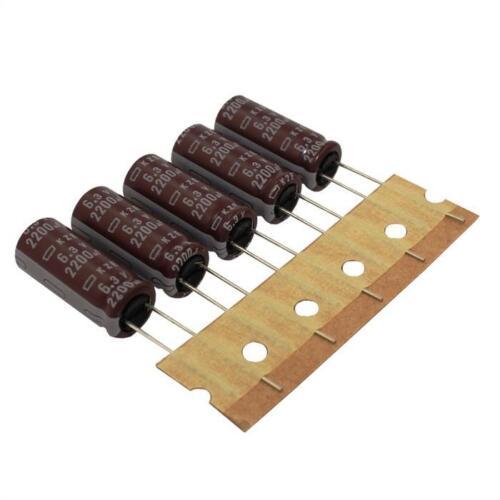10x Elko Condensatore Radial 2200µf 6,3v 105 ° C; ekze 6r3etd222mj25s; 2200uf