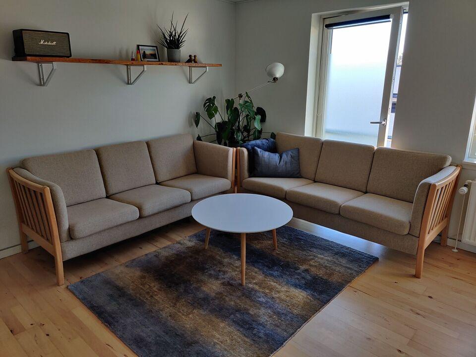 Sofagruppe, uld, 3 pers.