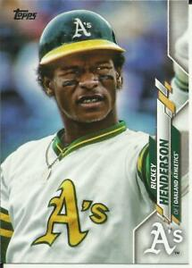 RICKEY HENDERSON 2020 TOPPS SER 1 SP PHOTO VARIATION #309 SEE SCANS