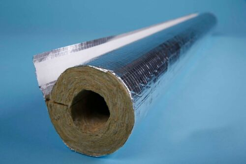 1 mtr Steinwolle Rohrschale RG90 Rohrisolierung 120-125//30 mm Rauchrohr aluk