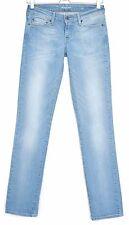 Levis STRAIGHT LEG Demi Curve Light Blue Low Rise Stretch Jeans Size 8 W25 L32