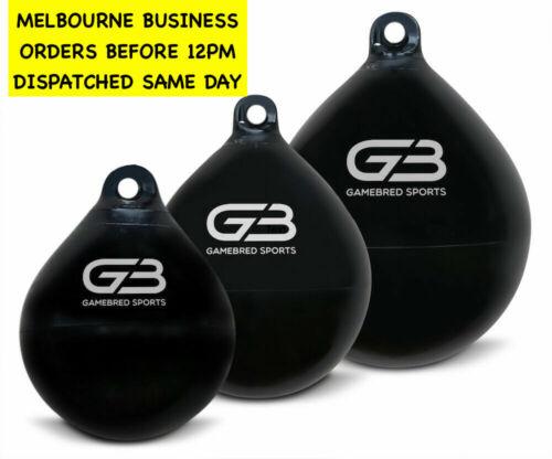 "Large 18/"" Gamebred Boxing Aqua water bag Heavy Bag Nozzle incl Aus company"