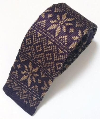 Men/'s Fashion Christmas Xmas Snowflake Knit Knitted Tie Slim Woven UK