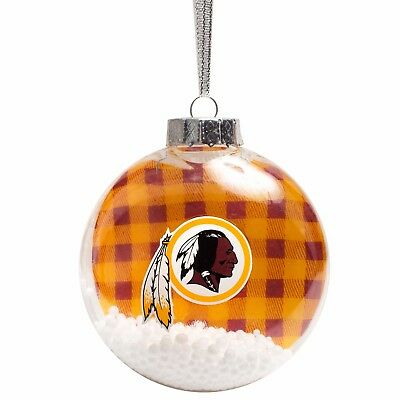 Santa Mini Snow Globe Washington Redskins