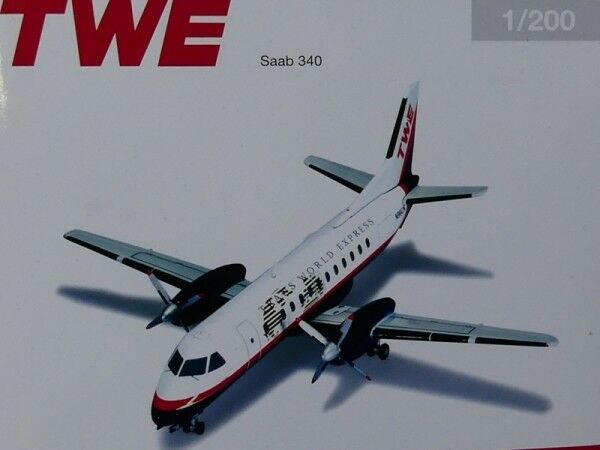 1 200 Herpa Trans World Express SAAB 340-n96cn 555654