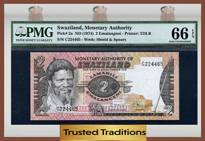 SUPERB GEM UNC PMG 67 EPQ SWAZILAND 100 EMALANGENI 2008 P 34 COMM