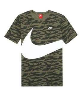 d39122ccd Mens Nike Sportswear AOP Vapor Wave Swoosh Shirt Gym Fitness Fashion ...