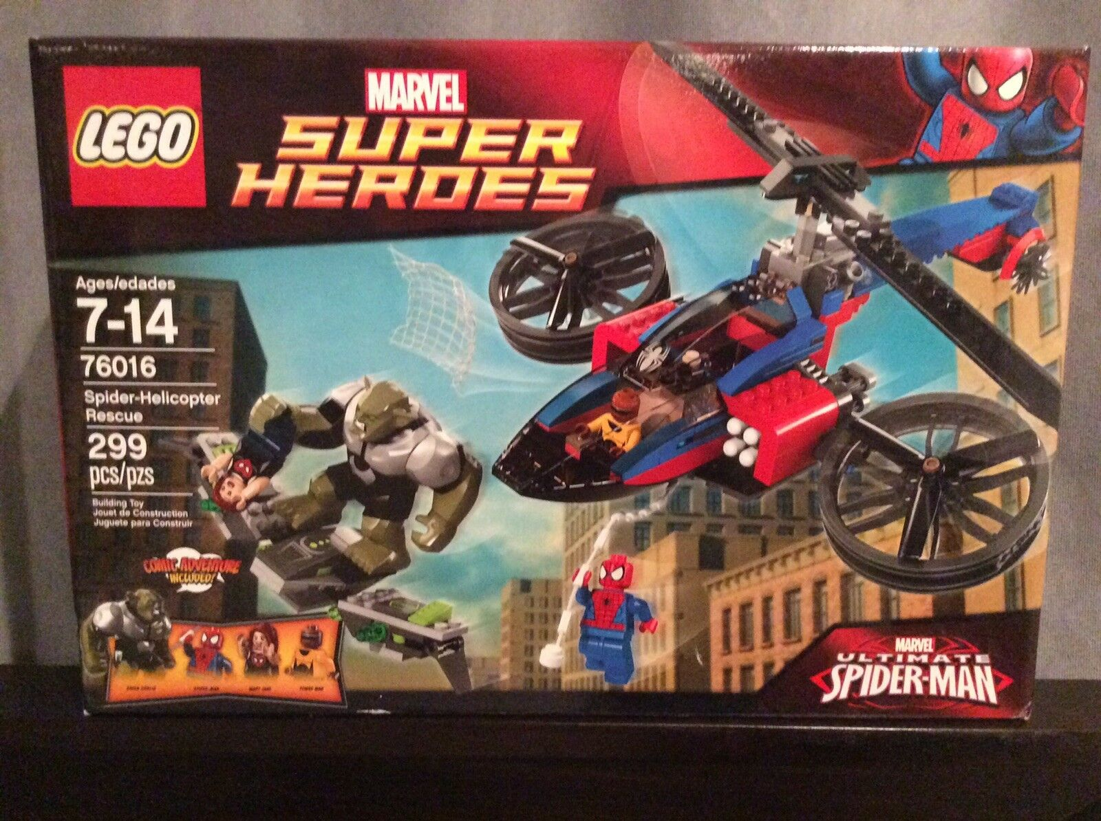 LEGO MARVEL SUPER HEROES 76016 Spider-Helicopter Rescue Green Goblin Spider-Man