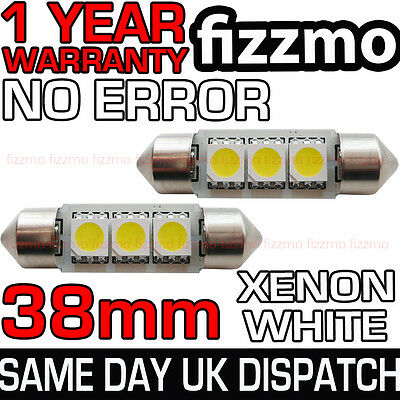1x Bright Xenon White 3SMD LED Canbus No Error Free Number Plate Bulb