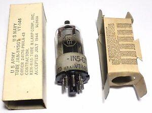 VT-146-1N5GT-pentode-US-ARMY-NOS-NIB-1944-KEN-RAD-u-w-SCR-625-Discount-offer