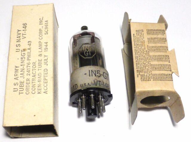 VT-146 1N5GT pentode US ARMY NOS NIB 1944 KEN-RAD u/w SCR-625 - Discount offer -