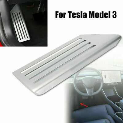 Car Footrest Foot Rest Plate Cover Trim For Tesla Model 3 2017 2018 S.Steel AT