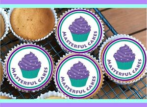 PERSONALISED-4CM-PRE-CUT-ICING-CUPCAKE-TOPPERS-VARIOUS-AMOUNT