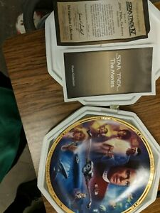 Hamilton-Star-Trek-The-Movies-The-Voyage-Home-IV-Collectors-Plate-w-COA