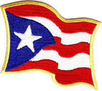 Puerto Rico Flag Iron On Patch 3 X 2.5 Inch Free Shipping P2047