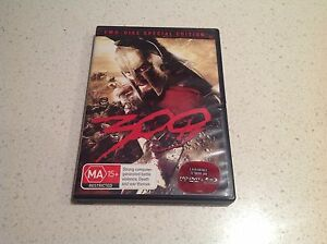300-MOVIE-TWO-DISC-SPECIAL-EDITION-SET-VGC-BARGAIN-GERARD-BUTLER-STUNNING