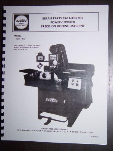 Sunnen Hone Model LBB-1810 Parts Manual