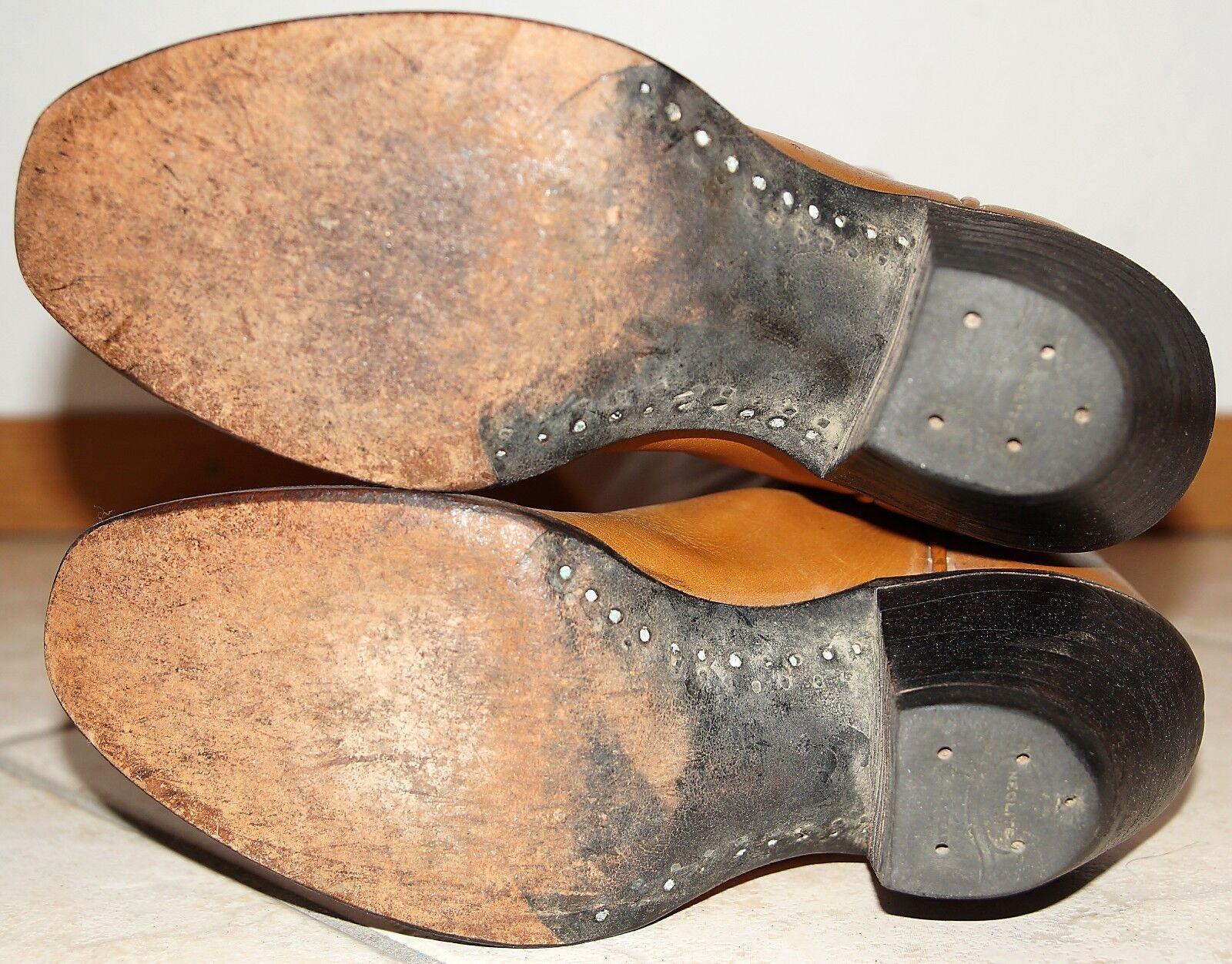 Paul Bond 36.5, elegante cuero auténtico campus rodeo Western botas botas de vaquero 7cm