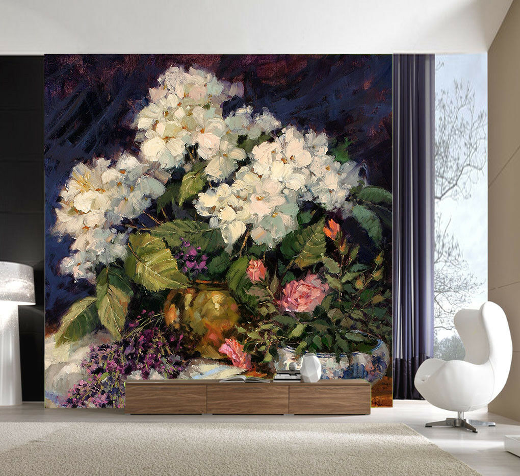 3D Handgezeichnete bluemen 73 Tapete Wandgemälde Tapete Tapeten Bild Familie DE