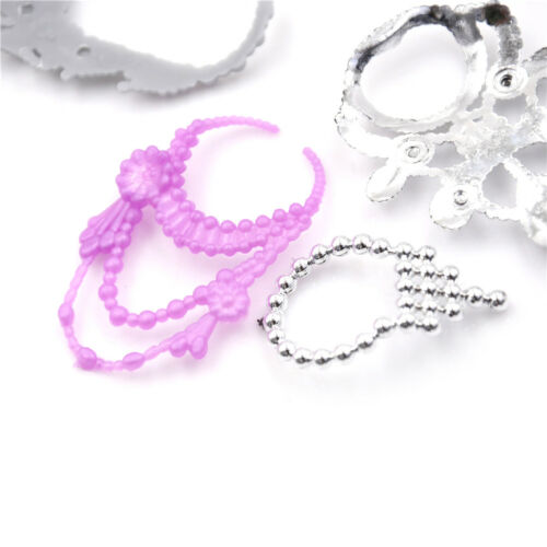 6Pcs//Set Fashion Plastic Chain Necklace For  Doll Party Accessorie/_sh