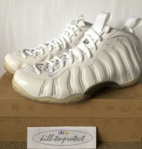 8c88387abde NIKE AIR FOAMPOSITE One WHITE OUT Sz US UK6 7 8 9 10 11 SILVER NRG ...