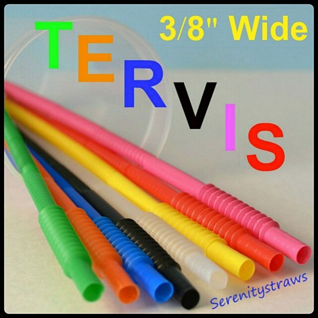 """not smooth X 10/""""- 28/"""" Tervis /& Other Straws With Ridges Straw Caps 3//8/"""" dia"""