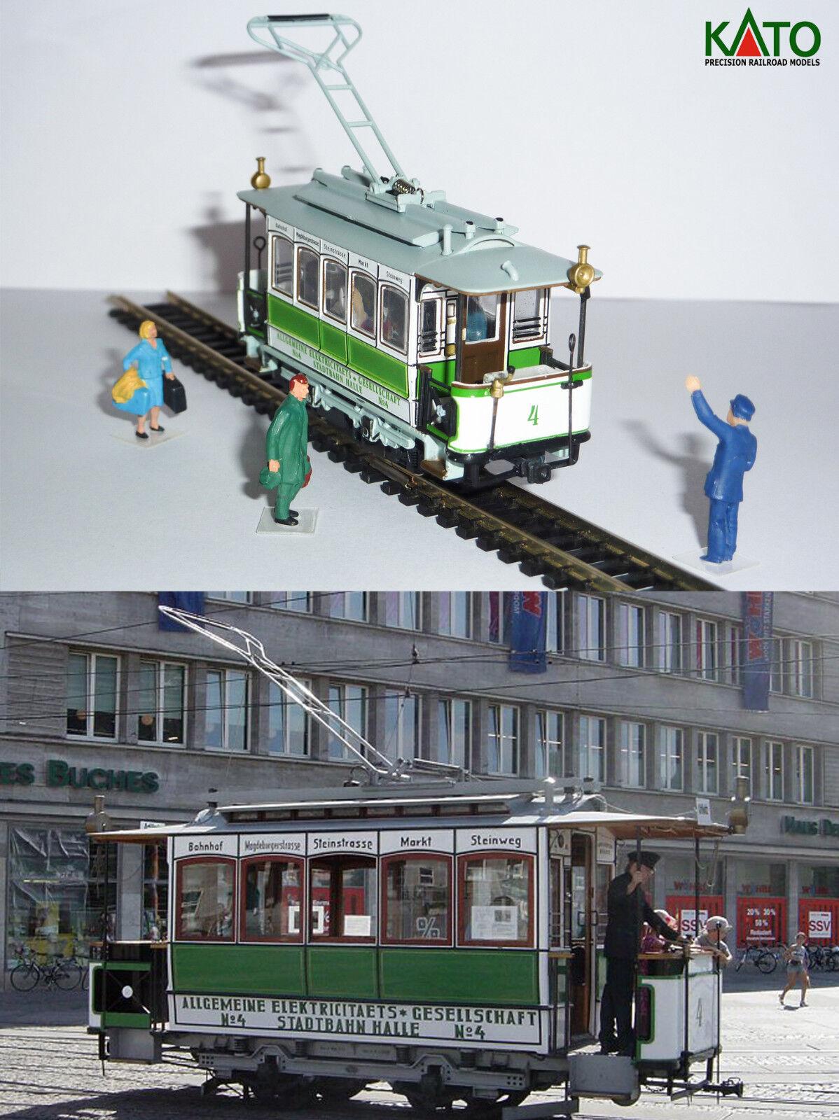 Motrice TW4 tram  AEG  - 1894 HO/N gauge  HOe  - motorized figures KATO ATLAS