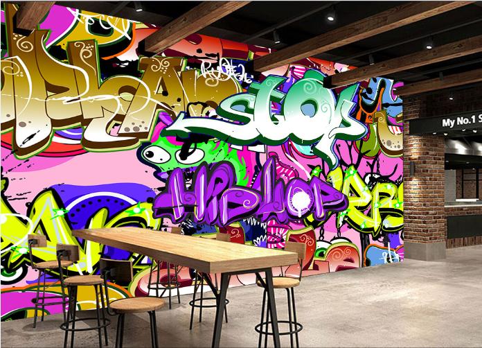 3D Alphabet  Farbmalerei  73 Tapete Wandgemälde Tapete Tapeten Bild Familie DE | Wunderbar  | Deutschland Shop  | Primäre Qualität