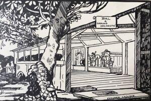 EDOUARD-LAJUDIE-encre-chine-illustrateur-d-039-Eugene-Brouhon-TUSSAU-LOUIS-The-Laure