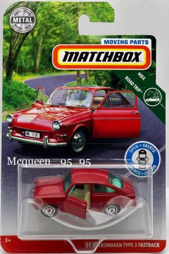 MATCH BOX 2019 MOVING PARTS MBX ROAD TRIP /'65 VOLKSWAGEN TYPE 3 FASTBACK