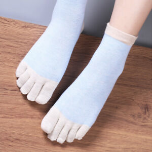 6Pairs Rich Cotton Ladies Women Five Fingers Toe Ankle Socks One Size Regular