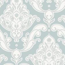 Rasch - Gatsby Damask & Floral Motif - In Duck Egg - Glitter Wallpaper 319606