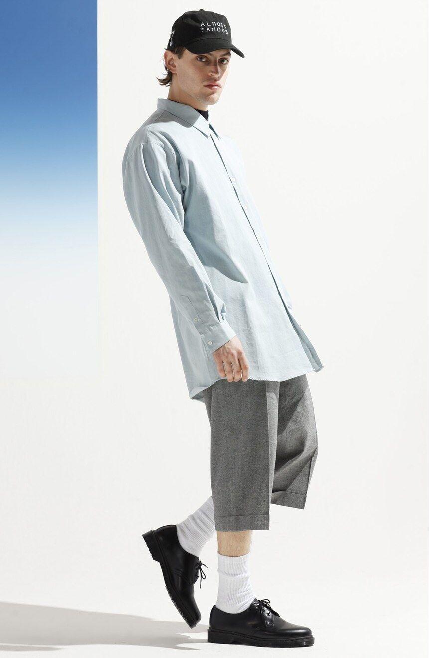 NEW 210 Études Studio 'Ombré Zero' Shirt in Jean Blau   R516