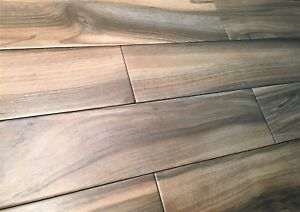 Details About 6x24 Marina Walnut Porcelain Plank Wood Look Field Tile Floor Sold By Piece