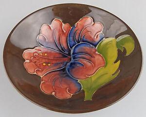 Walter-Moorcroft-Antique-Decorative-Arts-a-pretty-Hibiscus-Bowl-No-2-C1953-78