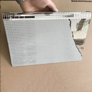 1M Mirror Mosaic Tiles Adhesive Glass Wall Sticker Decal Home Decor DIY Supplies