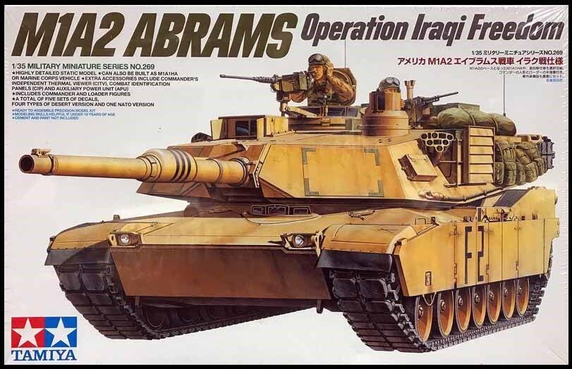 Tamiya Tamiya Tamiya 1 35 Scala USA Americana M1a2 Abrams Oif Carroarmato 22e7c5