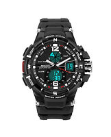 3ATM Men's Sport Quartz LED Digital Student Waterproof Army Military Watch Gift