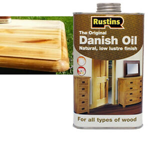 Details about 2 5L Rustins Danish Oil Suitable for All type of Wood Brings  out Beauty Worktop