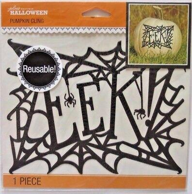 Spider Web Pumpkin Cling Jolee/'s Reusable Cling Stickers