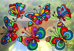 BEA-039-S-RETRO-STAINED-GLASS-EFFECT-BUTTERFLY-WINDOW-CLING