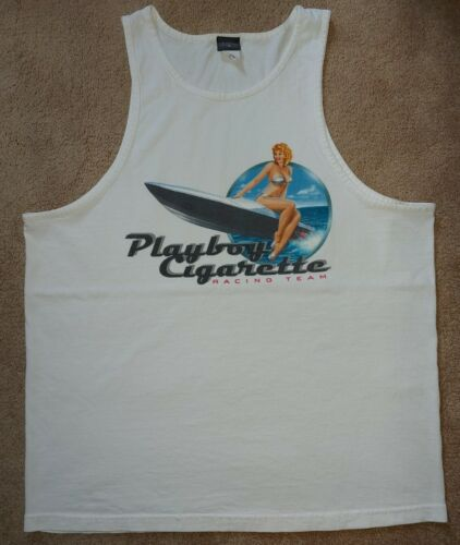 Vintage Men's Playboy & Cigarette Racing Team Vest