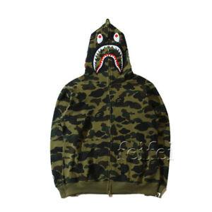 Cheap Bathing Ape Bape Shark Jaw Camo Full Zipper Hoodie Sweats Coat ... 50f52ee82
