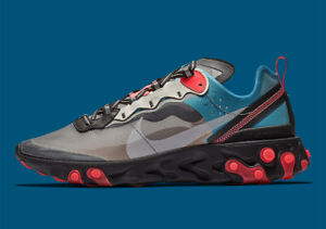 8ed3154e327e Nike React Element 87 size 13. Blue Chill Solar Red Black Grey ...