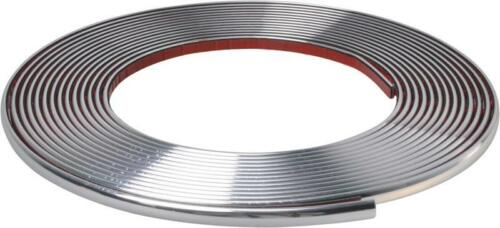 Corpo cromato 128//12mm Porta Paraurti Protezione Moulding Strip MC17//10