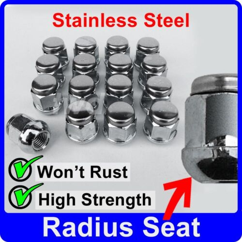 16 x ALLOY WHEEL NUTS FOR MG//ROVER RADIUS SEAT M12x1.5 STAINLESS CAP BOLT J40